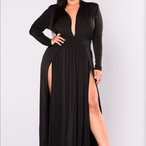 Sexy Maxi Dress with Front Slits and Deep V